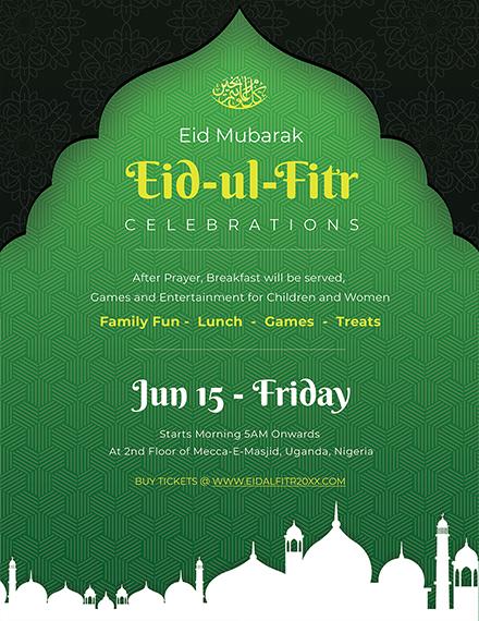 Free Eid Ul Fitr Flyer Template