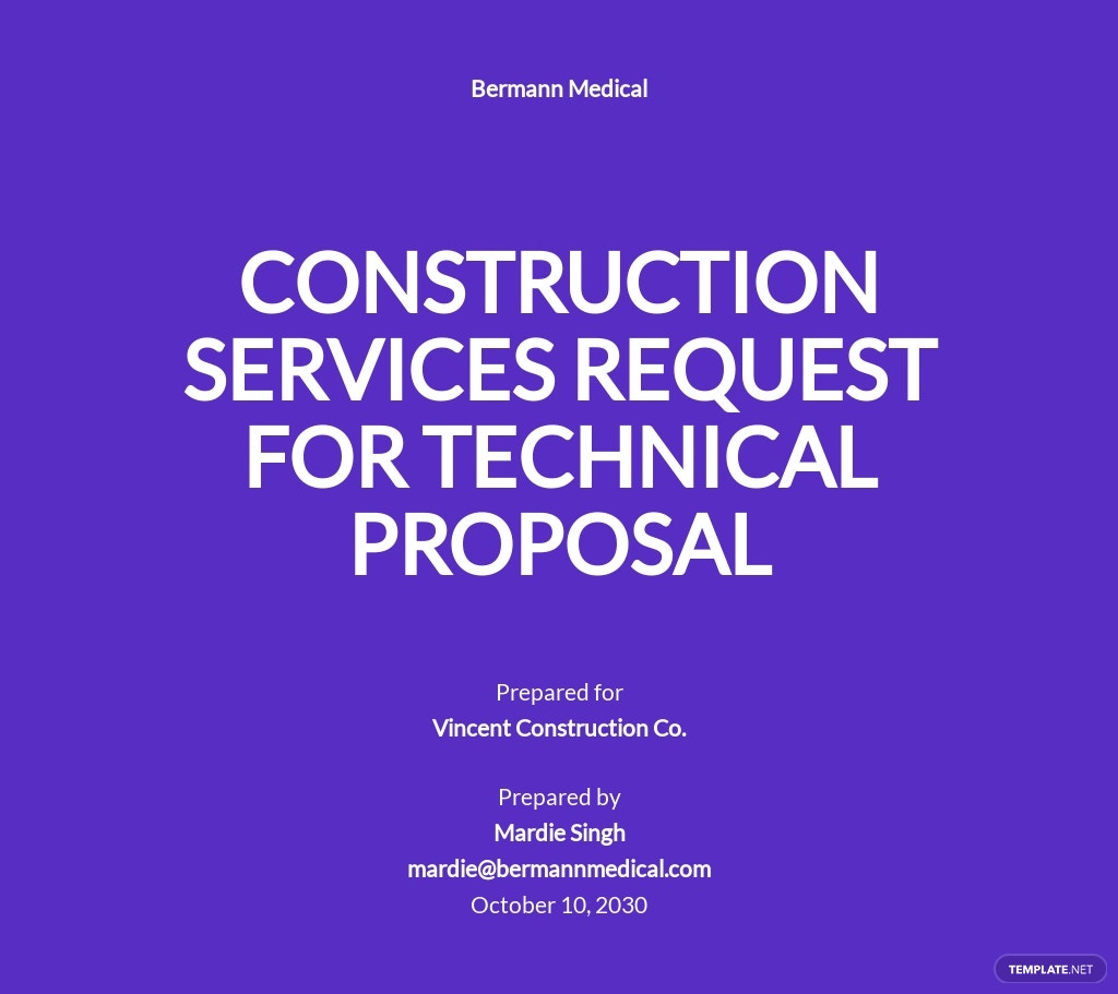Request for Technical Proposal Template