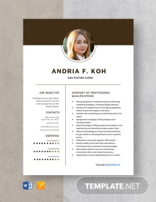 Free Gas Station Clerk Resume Template