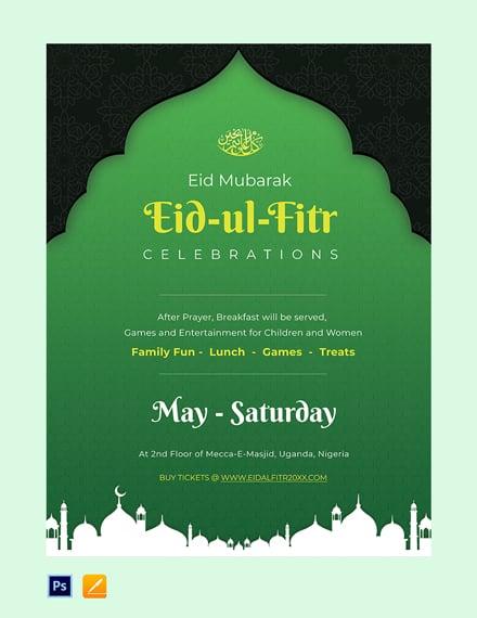 Free Eid Ul Fitr Poster Template