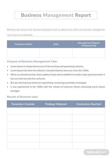 Free water management report template download 154 reports in word free business management report template friedricerecipe Choice Image