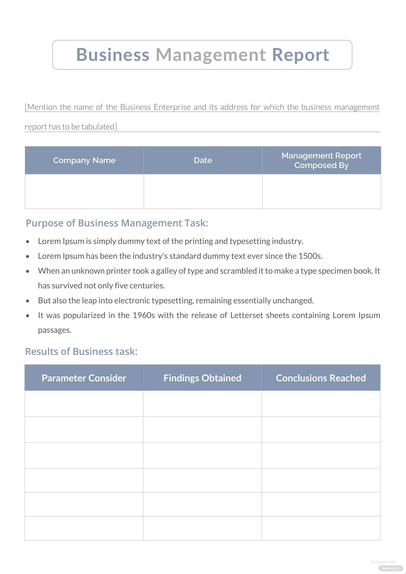 Business management report template in microsoft word template business management report template accmission Gallery