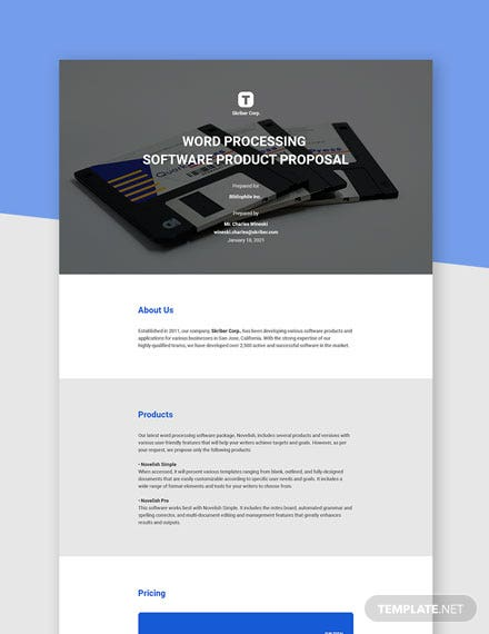 Editable Software Product Proposal Template