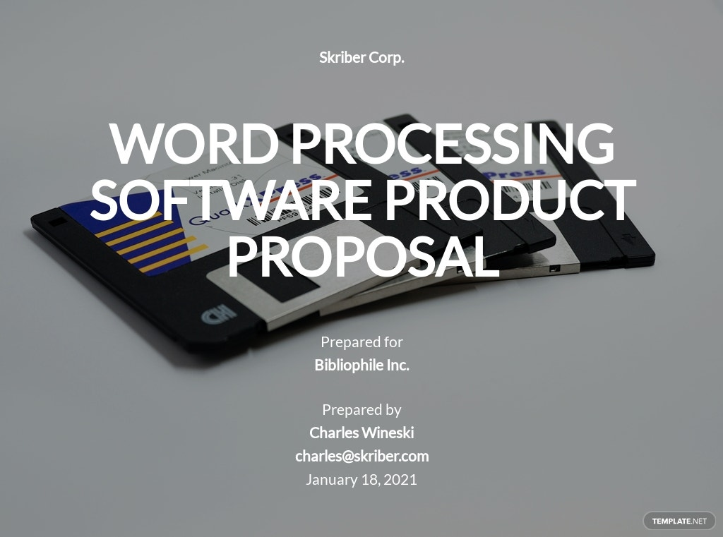 Software Product Proposal Template