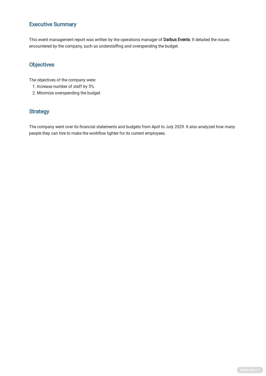 Free Event Management Report Template 1.jpe