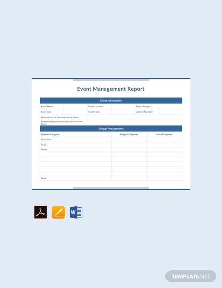Free-Event-Management-Report-Template
