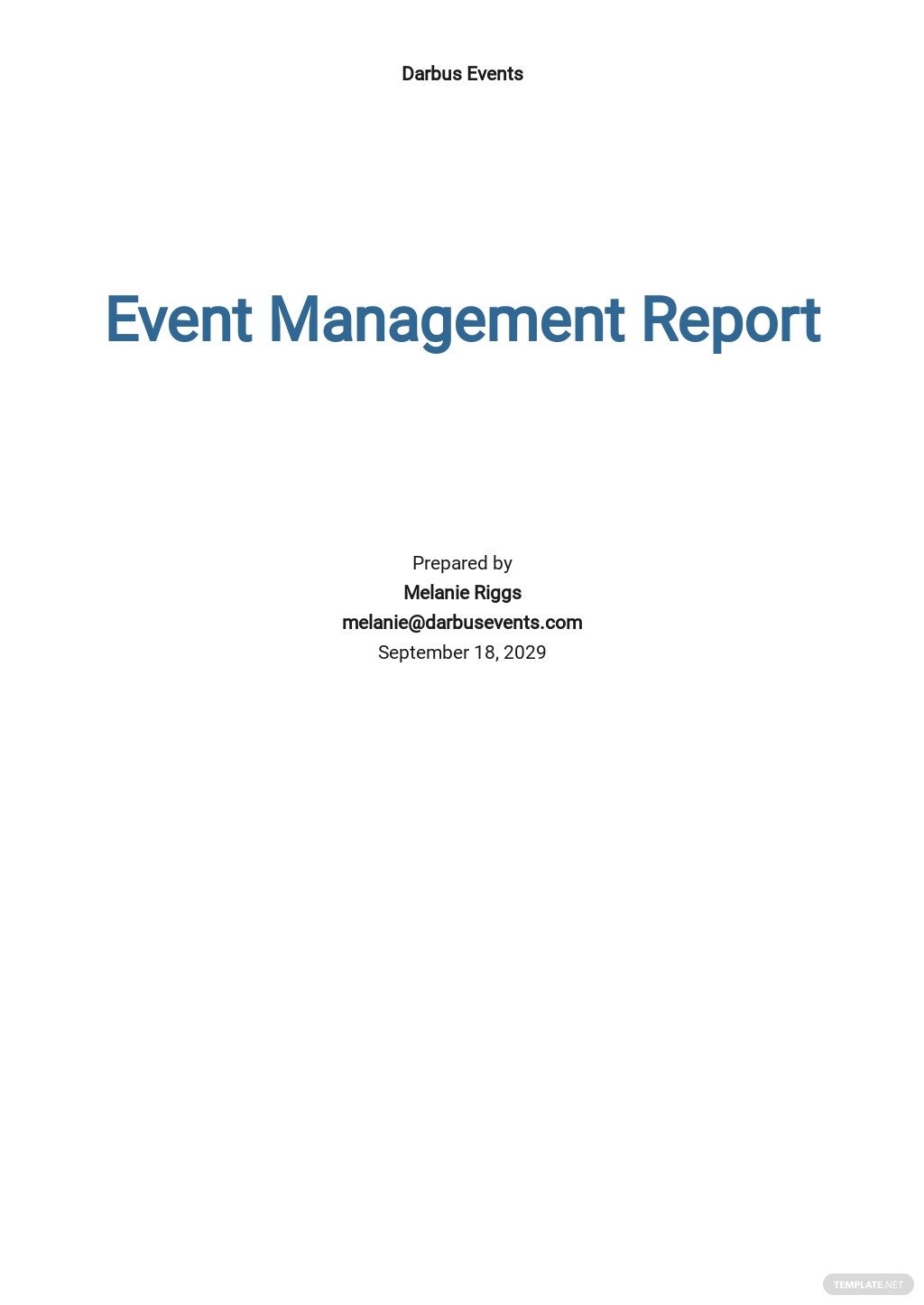 Free Event Management Report Template.jpe