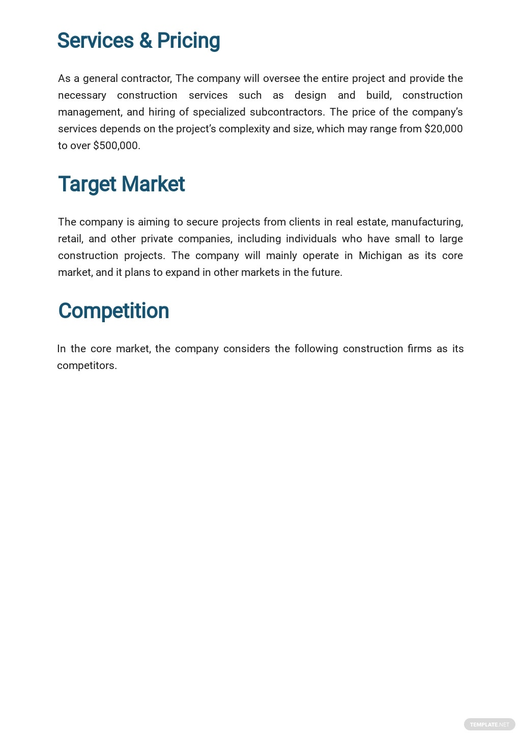 Free General Contracting Company Business Plan Template 2.jpe