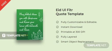 Eid Ul Fitr Quote Template