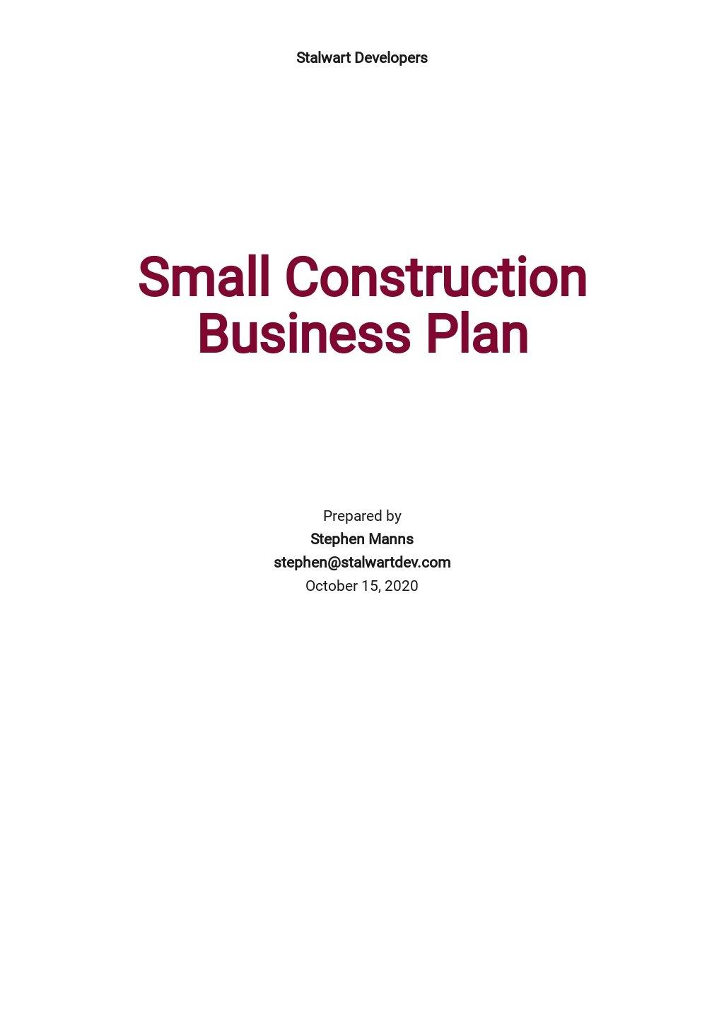 Small Construction Business Plan Template.jpe