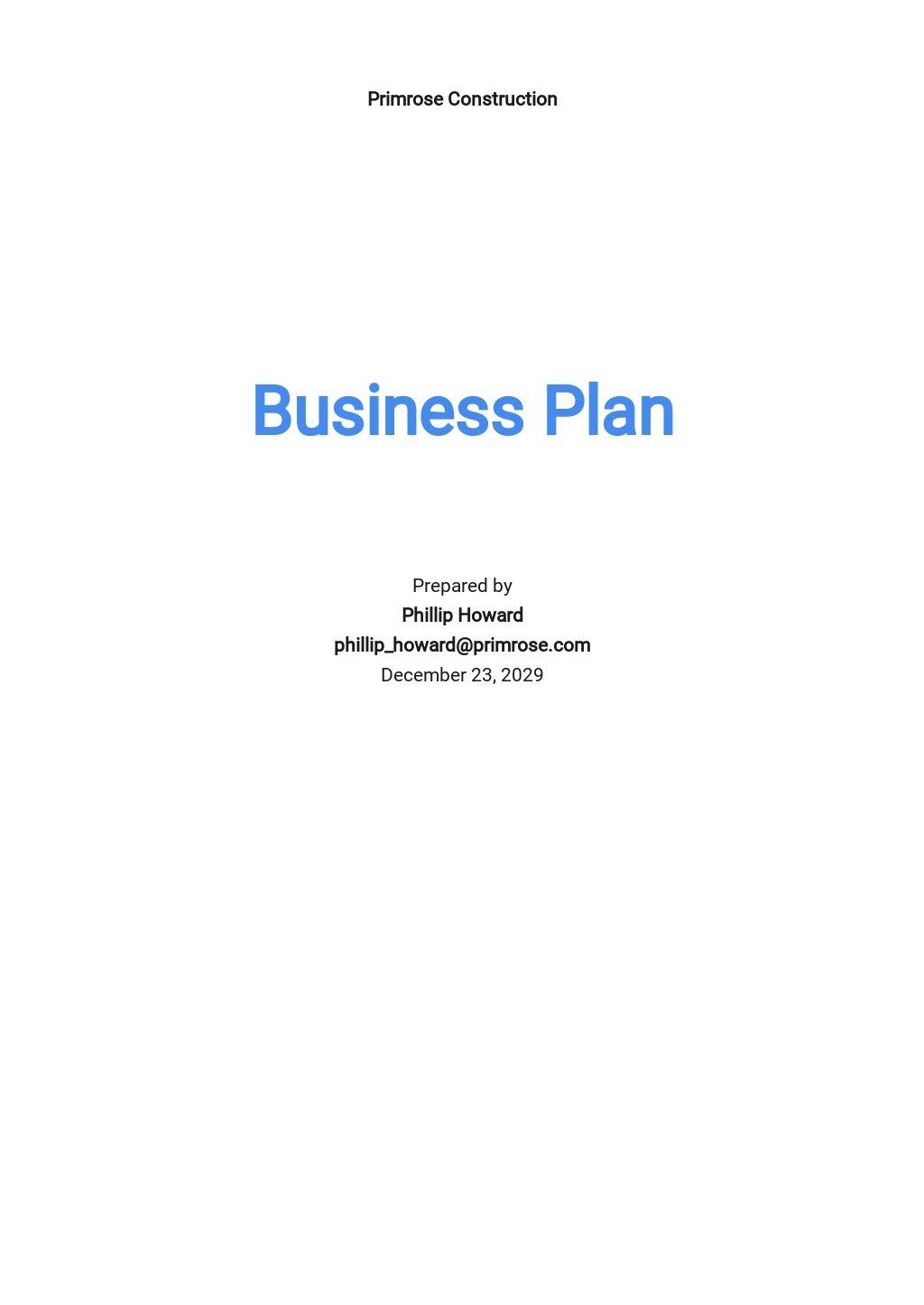 Commercial Construction Business Plan Template.jpe
