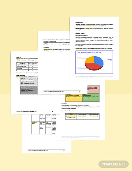 Construction Contractor Business Plan Template free