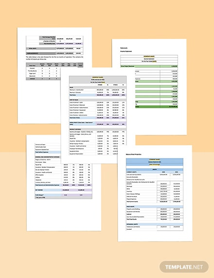 Construction and Engineering Business Plan Template projection