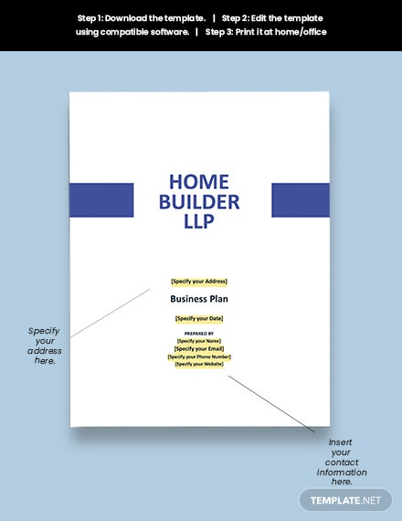 Residential Construction Business Plan Download