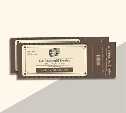 Free Vintage Admission Ticket Template