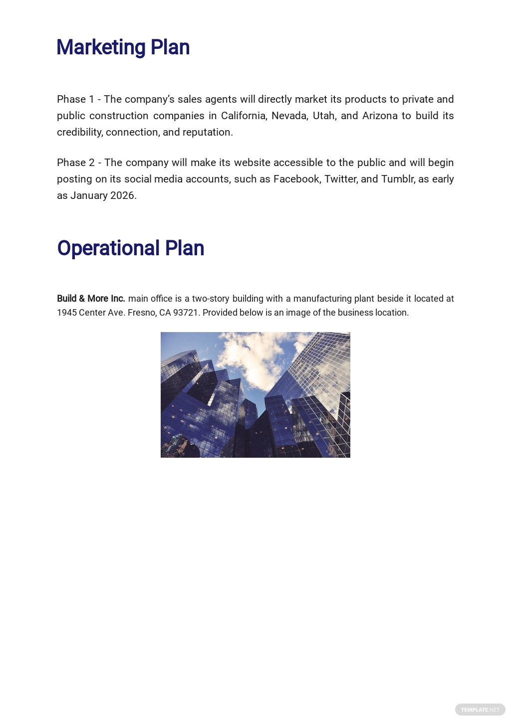 Construction Manufacturer Business Plan Template 4.jpe