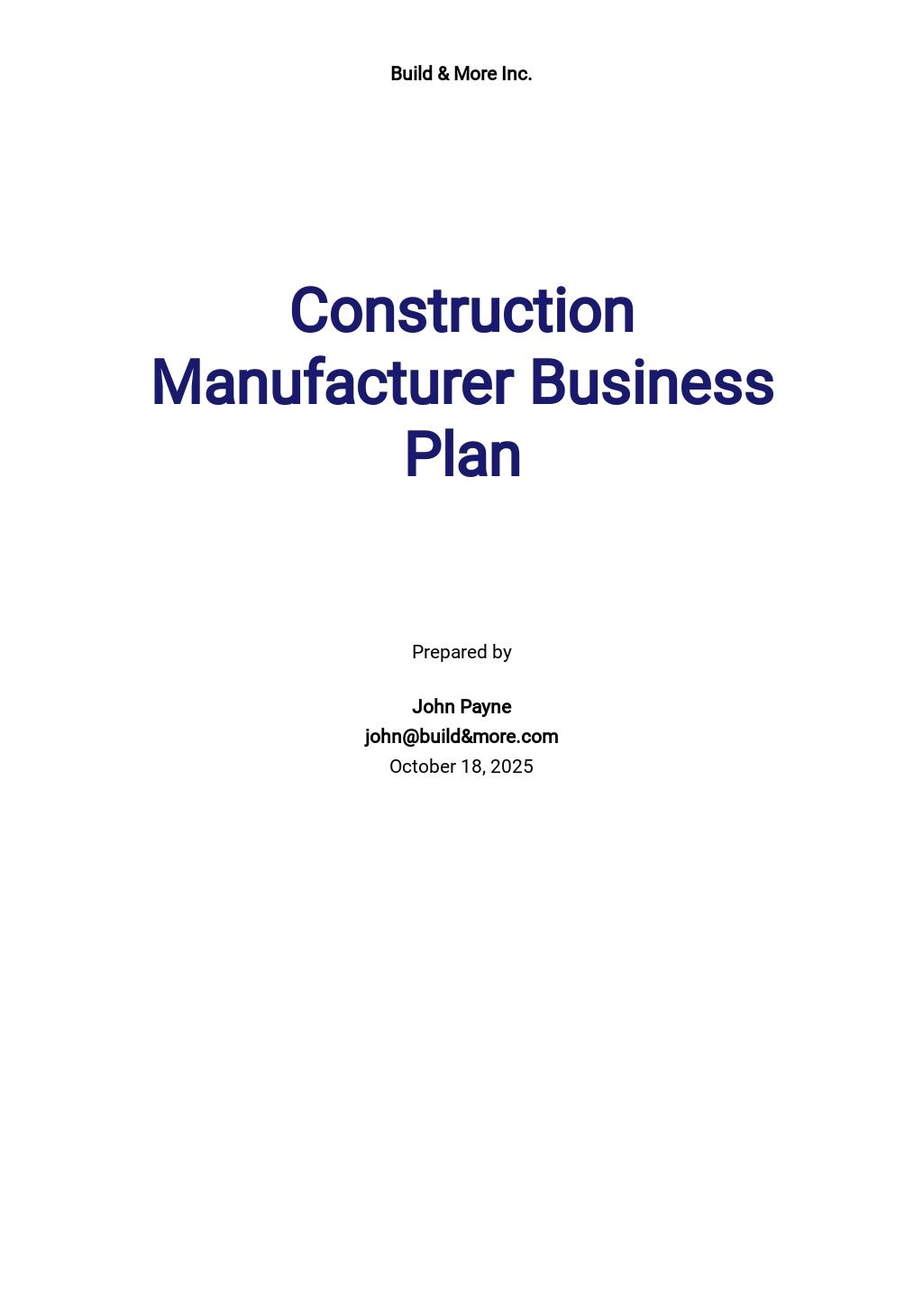 Construction Manufacturer Business Plan Template.jpe