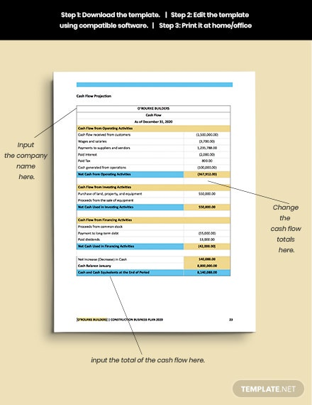 printable Construction Repair Business Plan