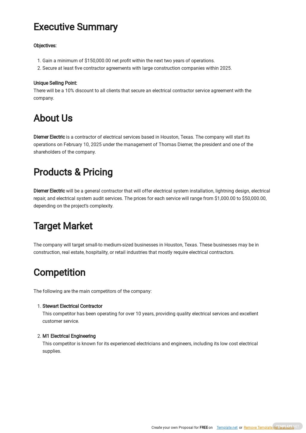 Electrical Contractor Business Plan Template 1.jpe