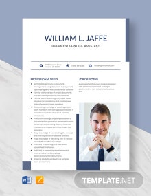 Free Document Control Assistant Resume Template