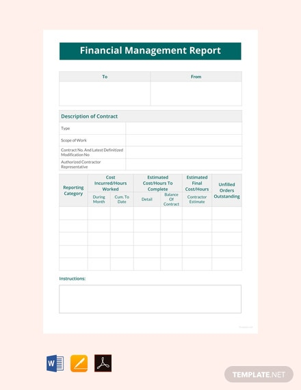 Free Financial Management Report Template