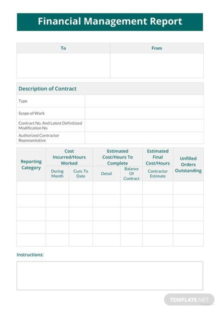 financial-management-report-template-1-440x622 Office Expense Report Format on template word, small business monthly, sample form, form template,