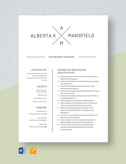 free head start teacher assistant resume template