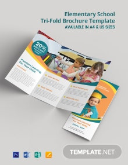 Elementary School Tri-Fold Brochure Template