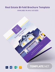 Real Estate Bi-Fold Brochure Template