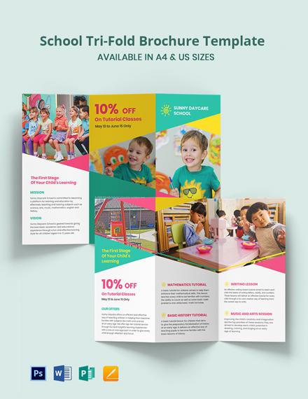 School Tri-Fold Brochure Template