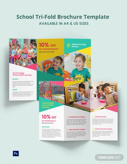 School Tri-Fold Brochure Template