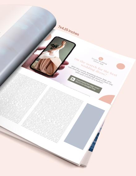 Wedding  magazine Ads Download