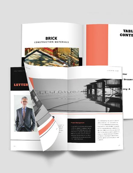 Building Construction Magazine Template