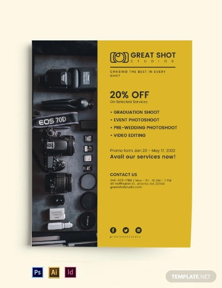 Photography Studio Business Flyer Template