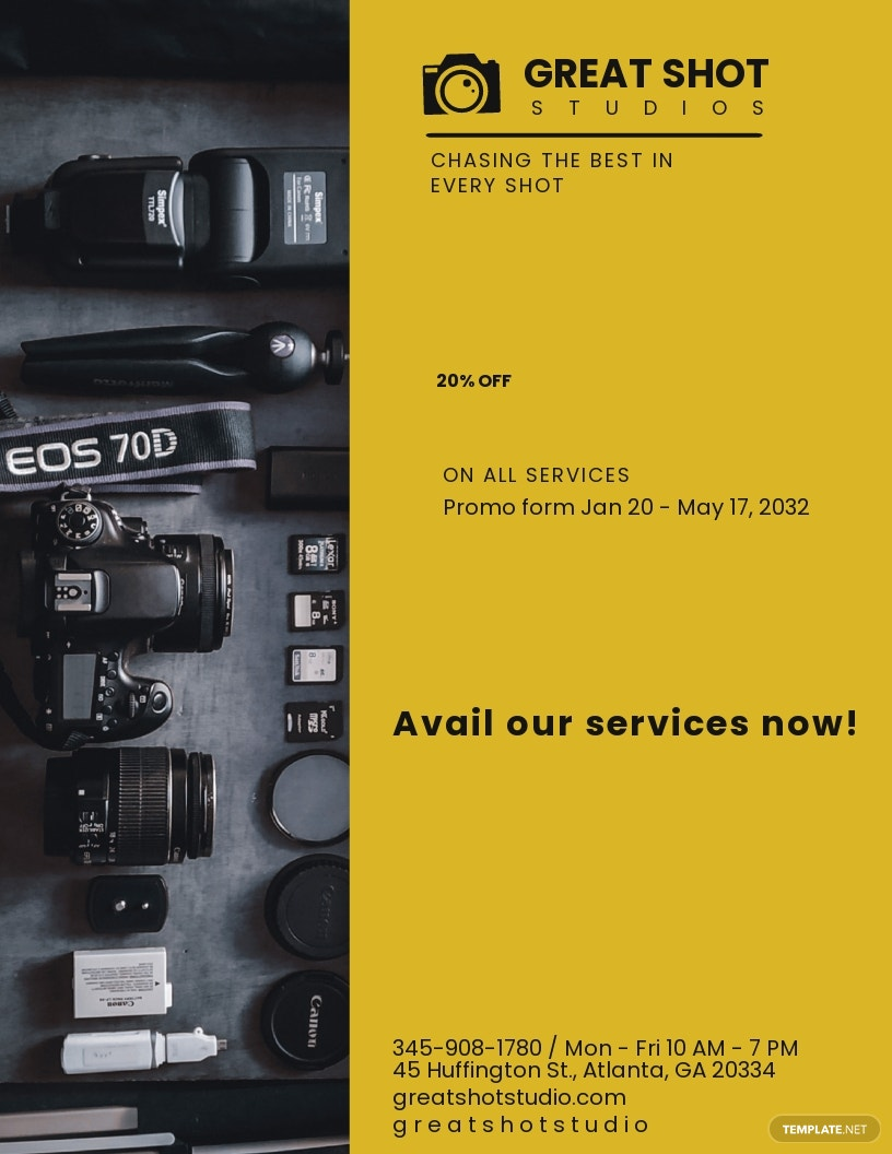 Photography Studio Business Flyer Template.jpe