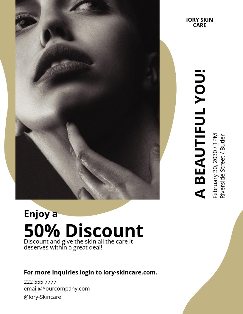 Skin Treatment Flyer Template