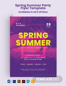 Spring Summer Party Flyer Template
