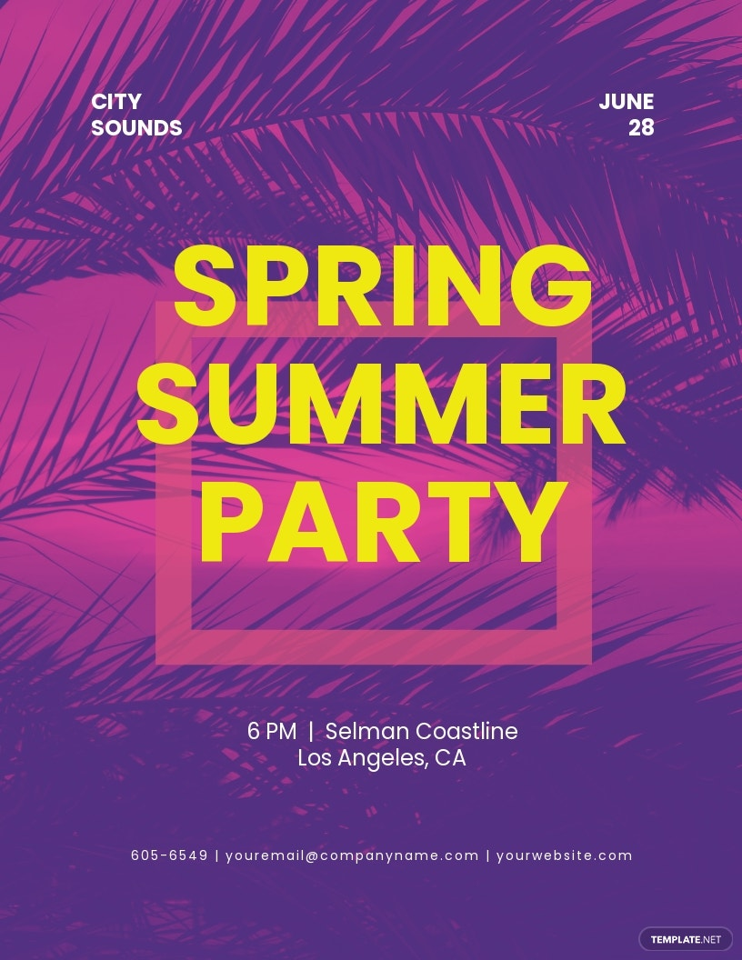 Spring Summer Party Flyer Template.jpe