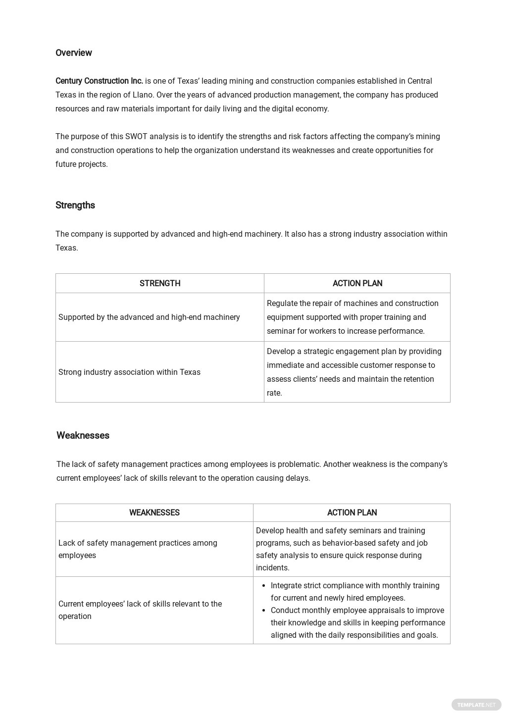 Mining & Construction Company SWOT Analysis Template 1.jpe