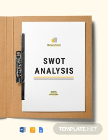 Mining & Construction Company SWOT Analysis Template
