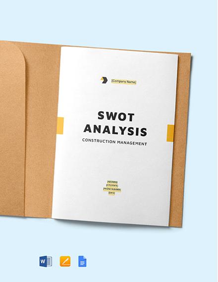 Construction Management SWOT Analysis