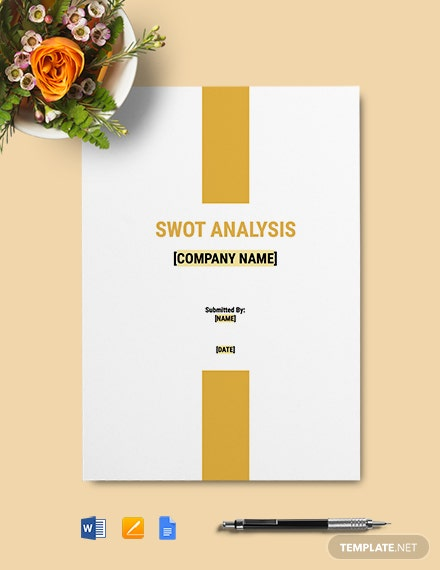 Construction Company SWOT Analysis Template