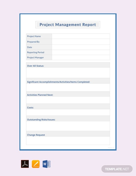 Free Project Management Report Template