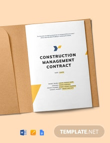 Construction Management Contract Template