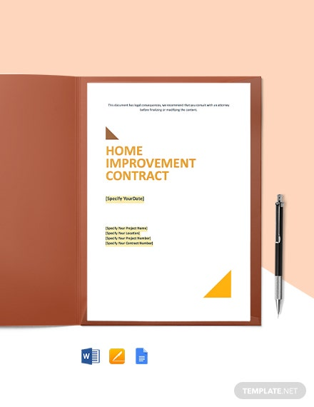 Home Improvement Contract Template