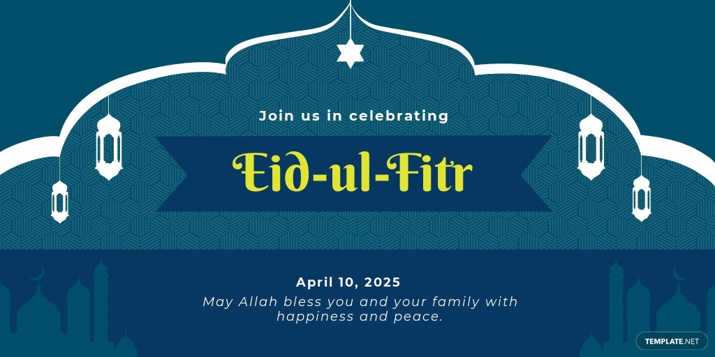 Eid Ul Fitr Twitter Post Template
