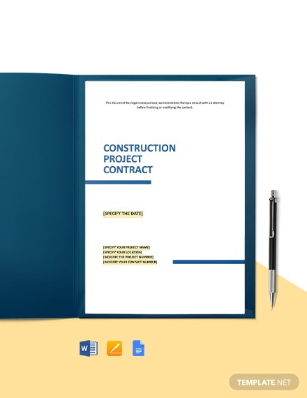 Construction Project Contract Template