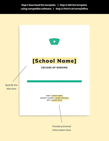 Nursing School Lesson Plan Guides