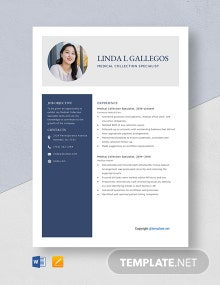 Free Medical Collection Specialist Resume Template