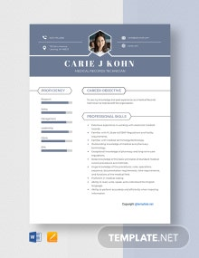 Free Medical Records Technician Resume Template